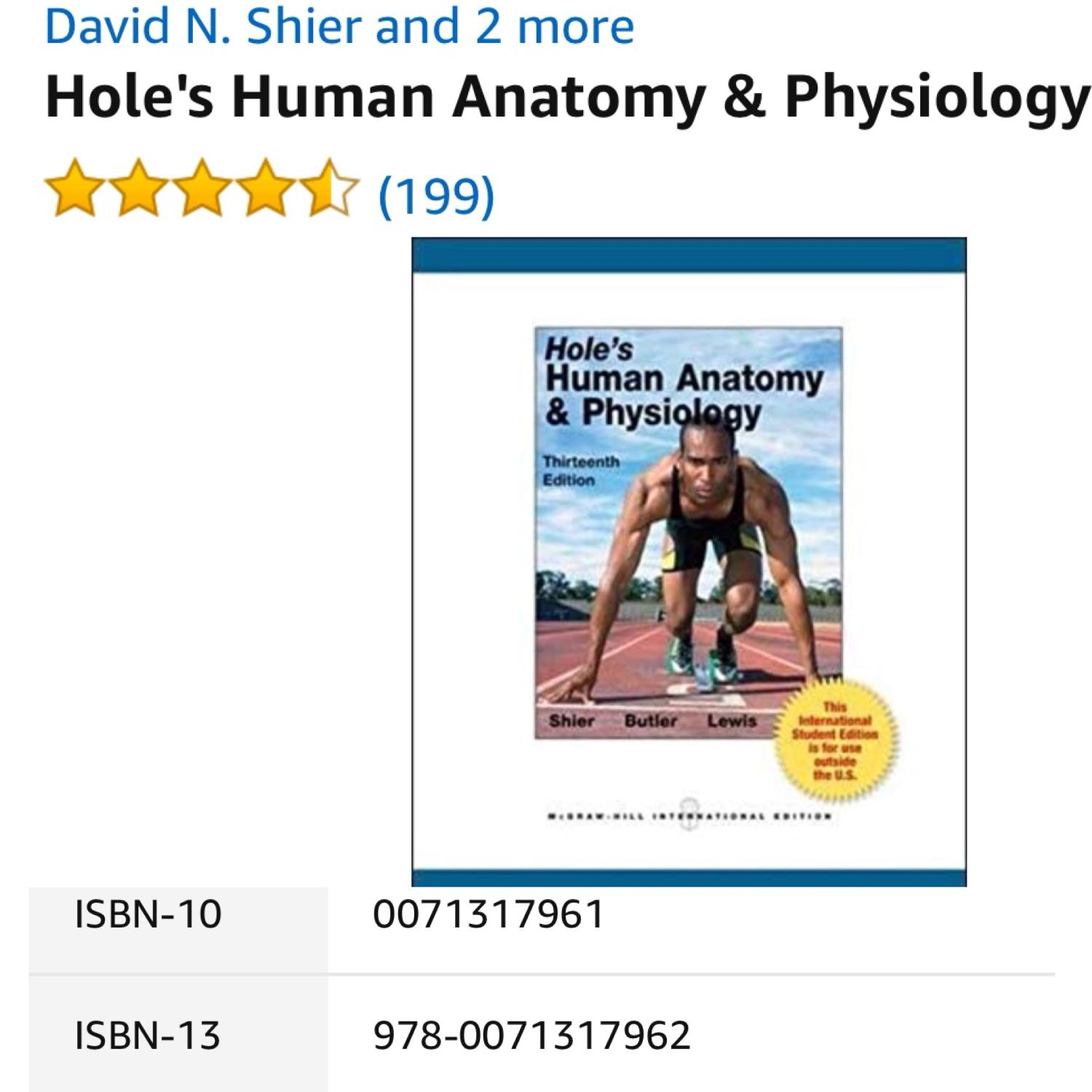 Find More Holes Human Anatomy Physiology 13th Edition Textbook