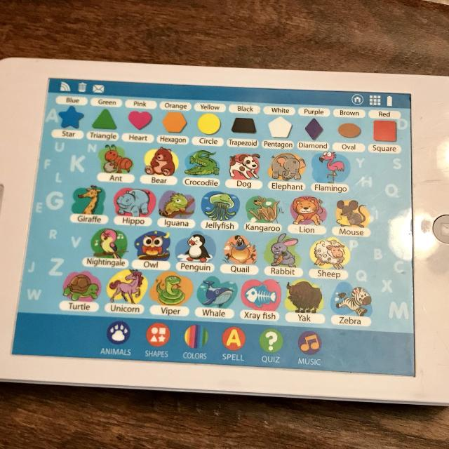 Interactive tablet  Tons of educational games  Perfect for learning  colours, letters and #s! VGUC SFPF home
