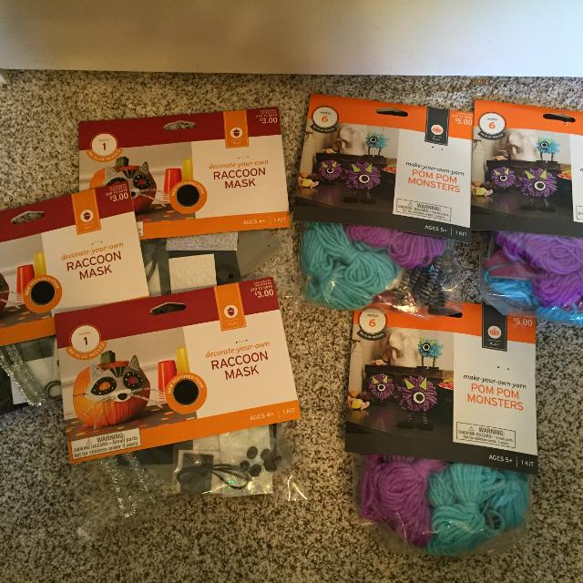 Fall / Halloween crafts for kids - 6 NEW unopened kits
