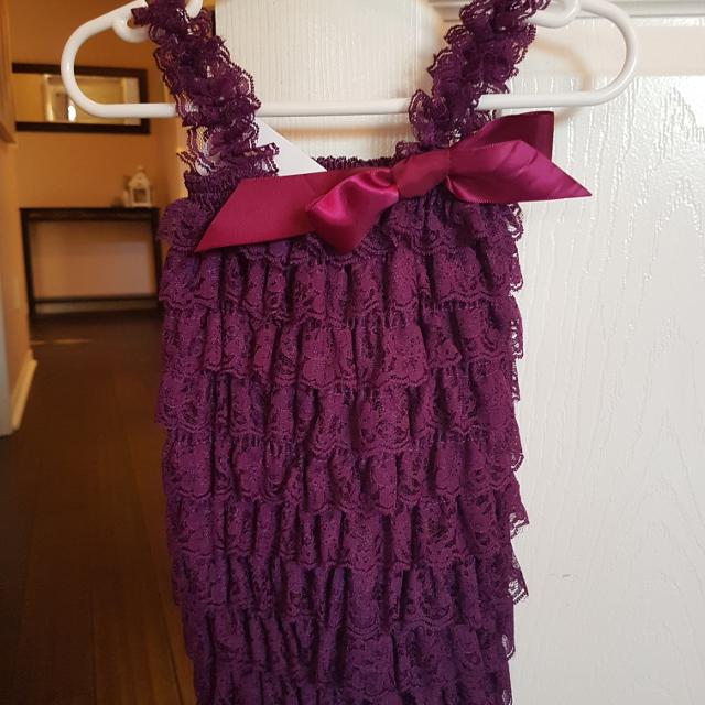 ef569b49292 Best Girls Purple Lace Romper for sale in Clarington