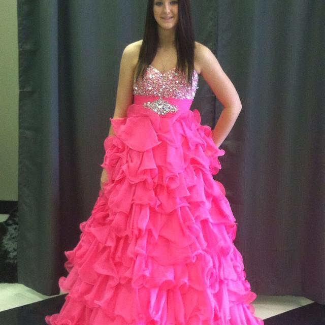 Best Hot Pink Ball Gown Style Grad Dress for sale in Regina ...