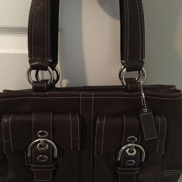 baab4531713a Best Coach Purse- Dark Brown- Leather for sale in Calgary