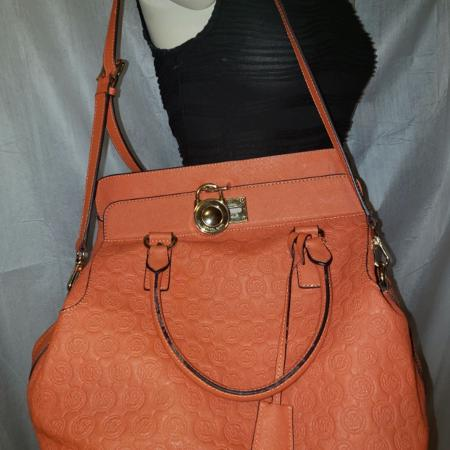 Michael Kors Saffiano Leather Embossed Tote Bag