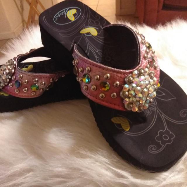 0595e0a352e5 Find more Haley Beez Pretty Bedazzled Sandals for sale at up to 90% off