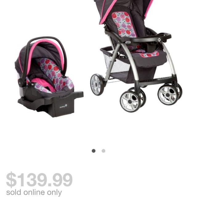 Baby Girl Infant Car Seat Stroller Combo