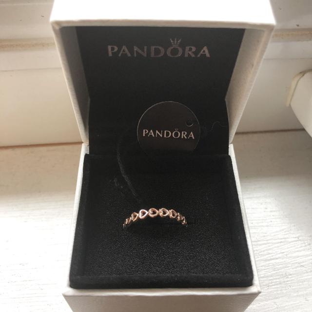 """d75c2e426 Find more New Pandora Rose Gold """"linked Love"""" Ring Size 54 (7 ..."""
