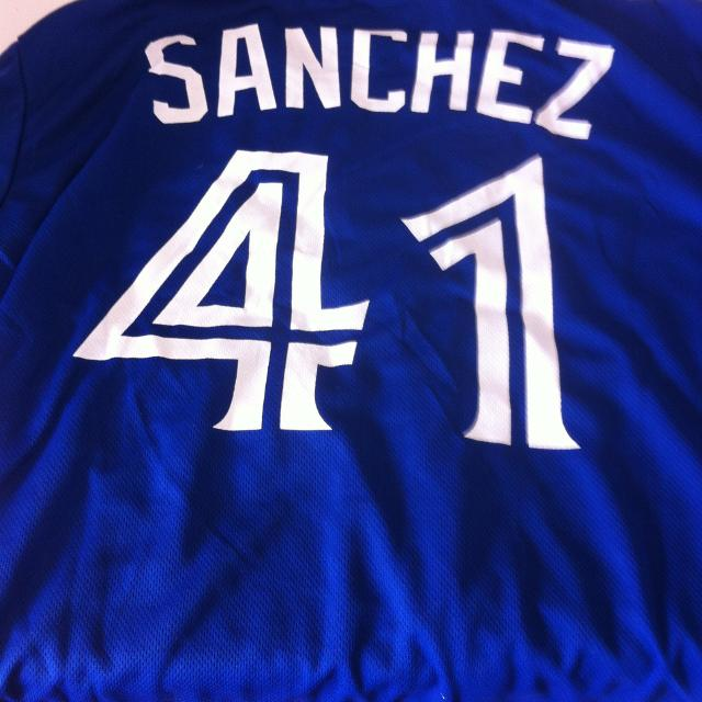 low priced 55e33 f9322 Blue Jays Replica Giveaway Promotion Sanchez Jersey
