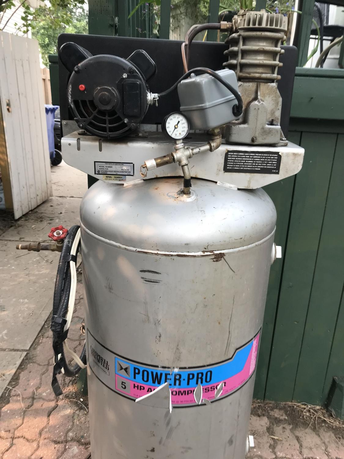 Campbell hausfeld air compressor (very low hours)