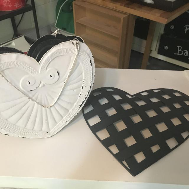 Best Metal Heart Planter And Heart Wall Decor. Euc for sale in ...