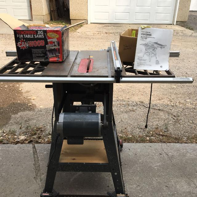 Craftsman stationary table saw with manual