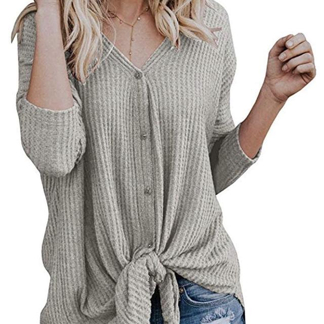 a46d30ad0 Find more Brand New Gray Women's Small Knot Waffle Thermal Button ...