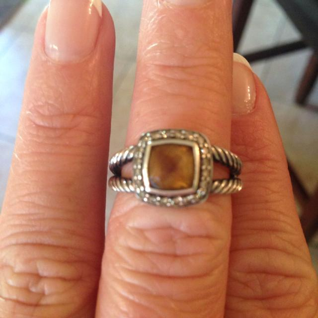 4270feb7b0510d Best David Yurman Ring For Sale Amber Stone With Diamond Around The Stone .  $450.00 Or Best Offer for sale in Germantown, Tennessee for 2019