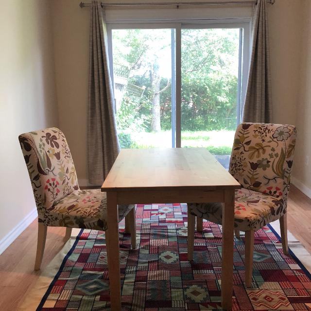 IKEA Dining Table With 2 Chairs Seller Can Meet Near Ottawa ON