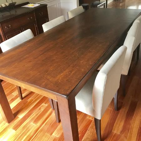 8 FT Dining Table by Cabinet Furniture, used for sale  Canada