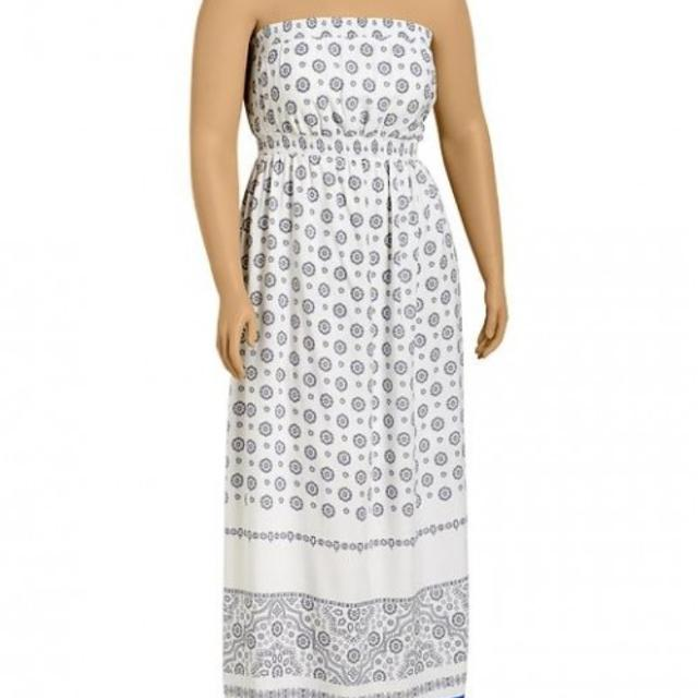 Women\'s Plus Size 4X Old Navy Printed Crepe Maxi Tube Dress