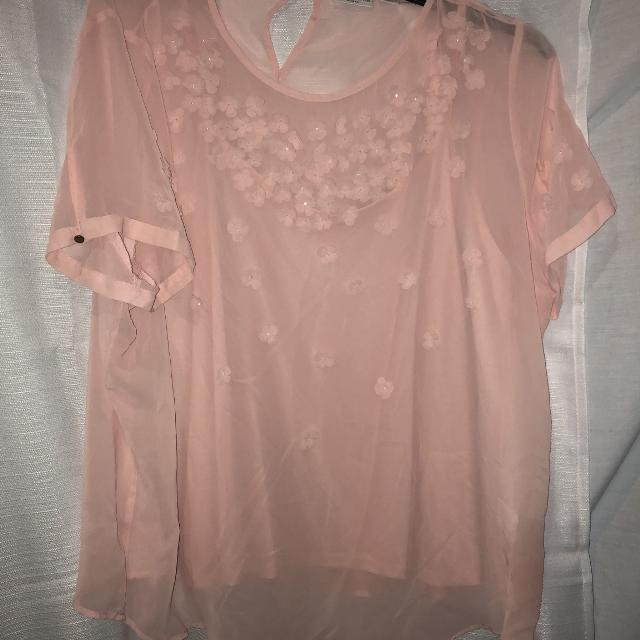 Best Womens Plus Size 2x Peach Blouse By Liz Claiborne For Sale In