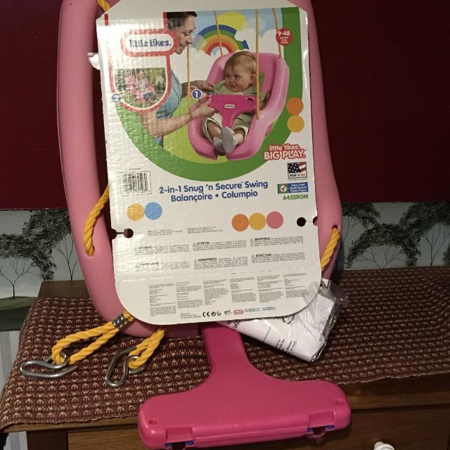 New Little Tikes 2 In 1 Snug N Secure Baby Toddler Swing