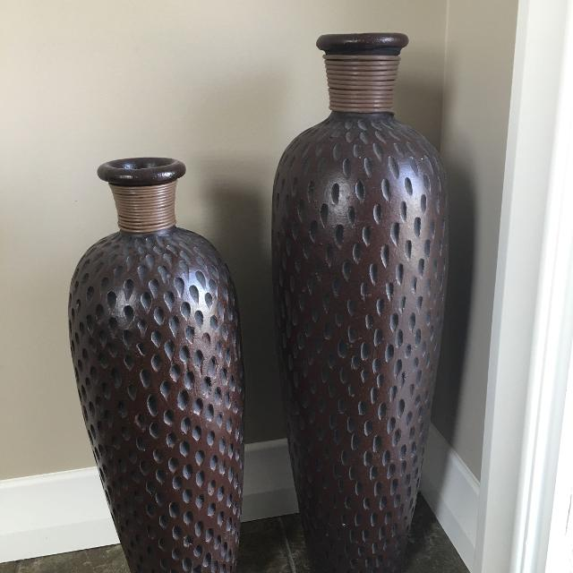 Find More Pier One 1 Brown Wooden Vases For Sale At Up To 90 Off