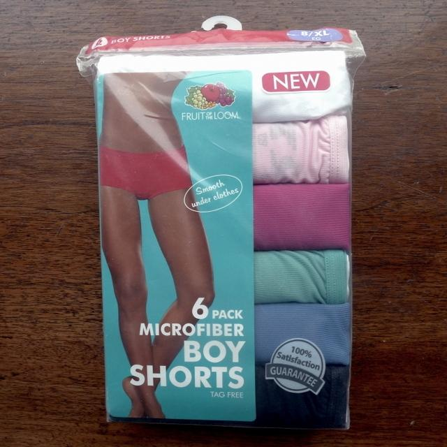 6 Pack Brand New Underwear Fruit Of The Loom Boy Shorts Panties Size Xl Fits Pant Size 14 16