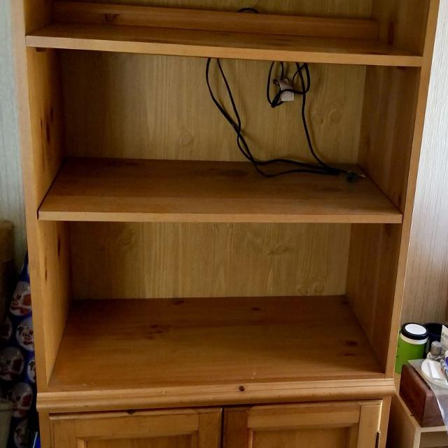 2 Knotty Pine Bookcases