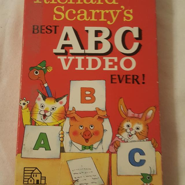 Best Richard Scarry's Best Abc's Video Ever! Vhs For Sale