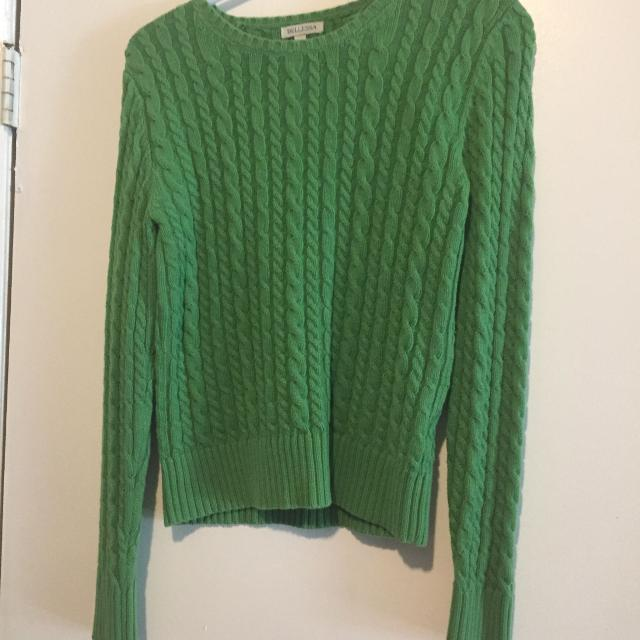 Best Green Cable Knit Sweater Small For Sale In Airdrie Alberta