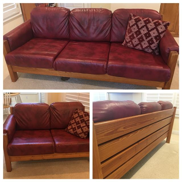 Find More This End Up Furniture Leather Sofa And Loveseat Dropped