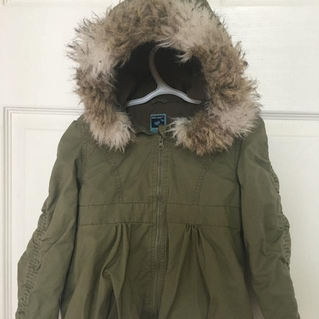 921f558e3 Find more Guc Army Green Old Navy Fall winter Coat - Size 5 for sale ...