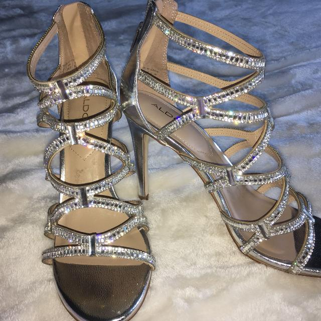 4cf67bc41017 Best Aldo Crystal silver Sandals - Size 8.5 for sale in Oshawa ...