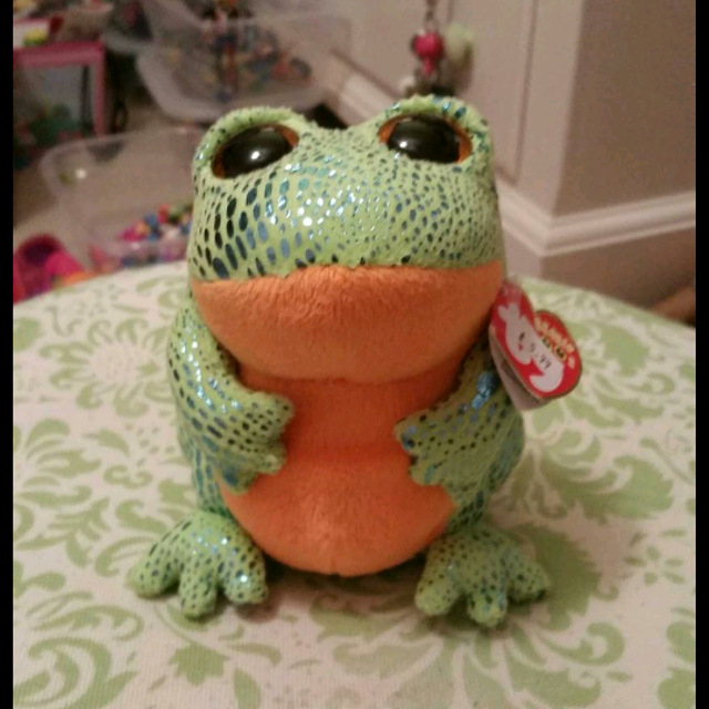 a6d4dacf1da Find more Ty Beanie Boo Speckles The Frog. New W tags for sale at up ...