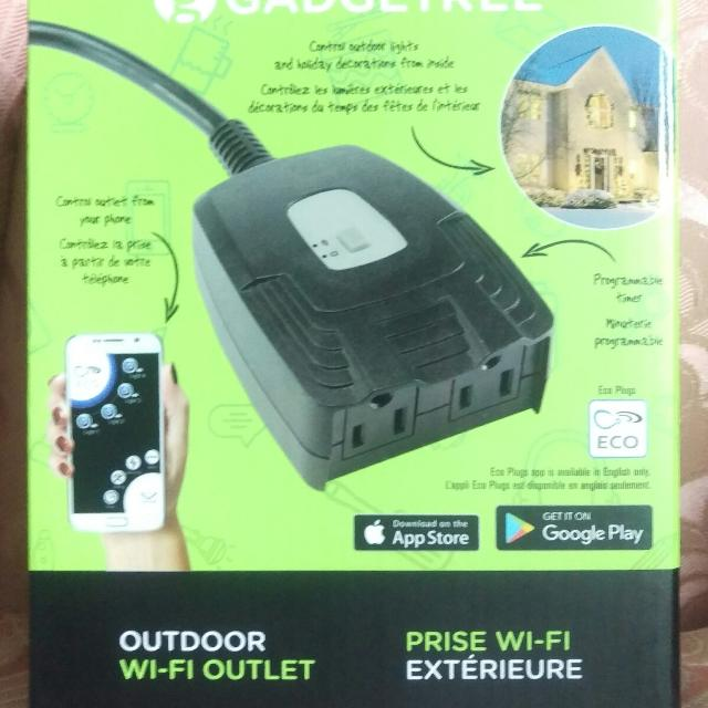 Woods WiOn Outdoor Wi-Fi Wireless Outlet Smart Plug Programmable