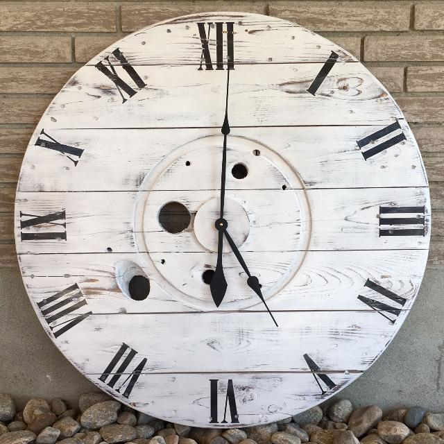 Large Rustic Wood Wall Clock