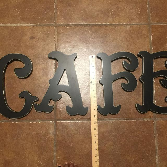 Cafe Wooden Letters