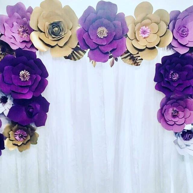 Best paper flower backdrop for sale in oshawa ontario for 2018 paper flower backdrop mightylinksfo