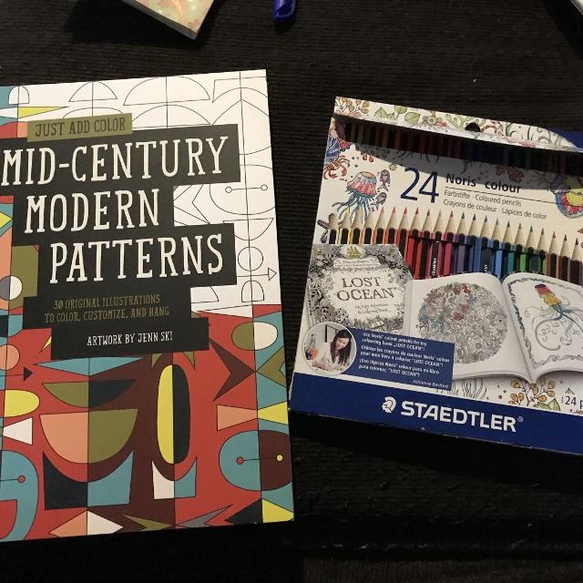 Find more Mid-century Modern Patterns Colouring Book for sale at up ...