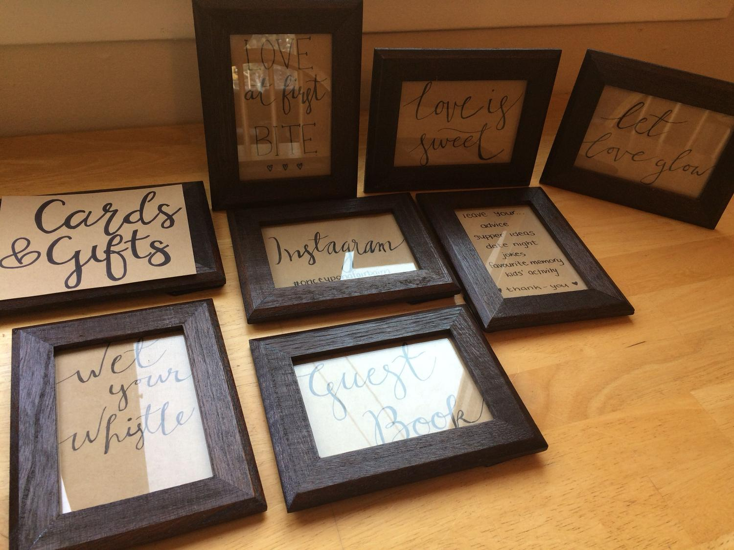 12 Small Wooden Frames