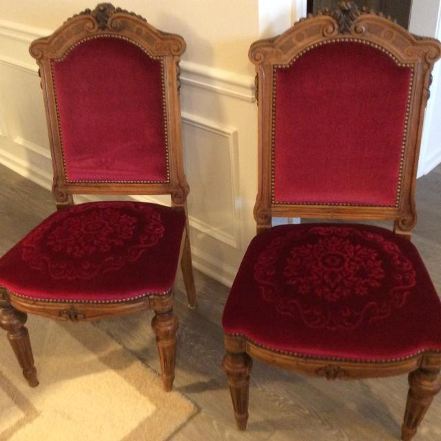 Antique Dining Chairs (pair) - Find More Antique Dining Chairs (pair) For Sale At Up To 90% Off