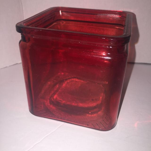 Best Red Square Decorative Glass Vase For Christmas Valentines Day
