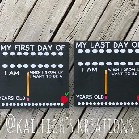 Back to School Chalkboard Signs, used for sale  Canada