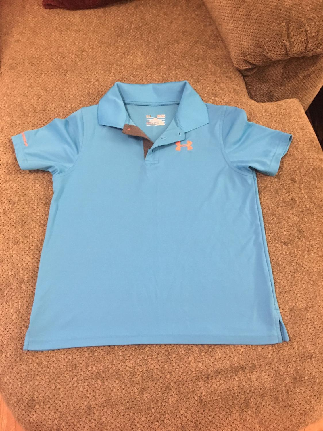 Find More Under Armor Heat Gear Loose Fit Polo Shirt Size Youth