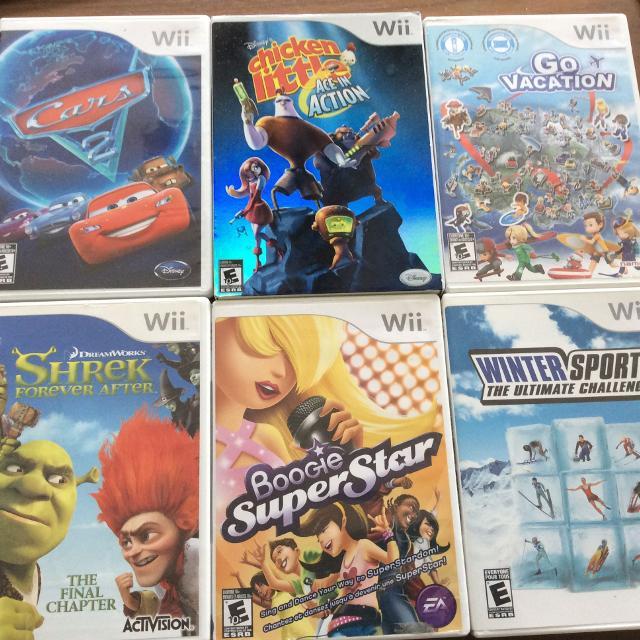 Various Kids Wii Games