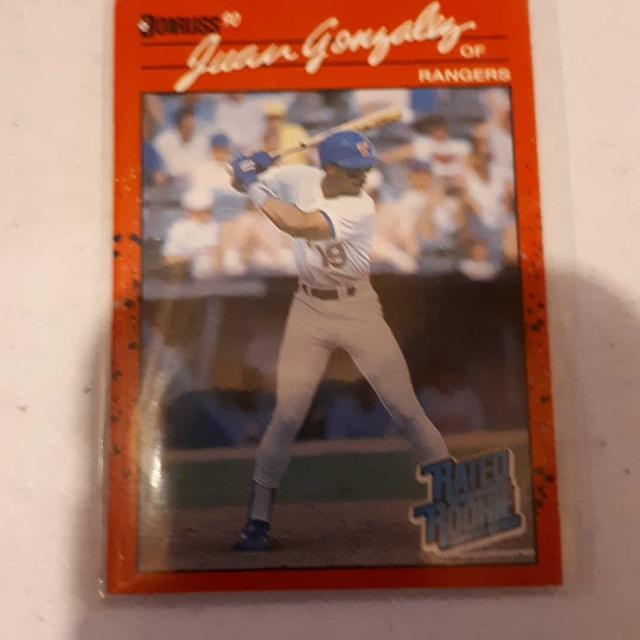 1990 Donruss Juan Gonzalez Rookie Card