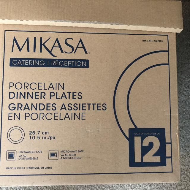 Mikasa porcelain dinner plates set of 12  Dishwasher and microwave safe   Brand new in the box
