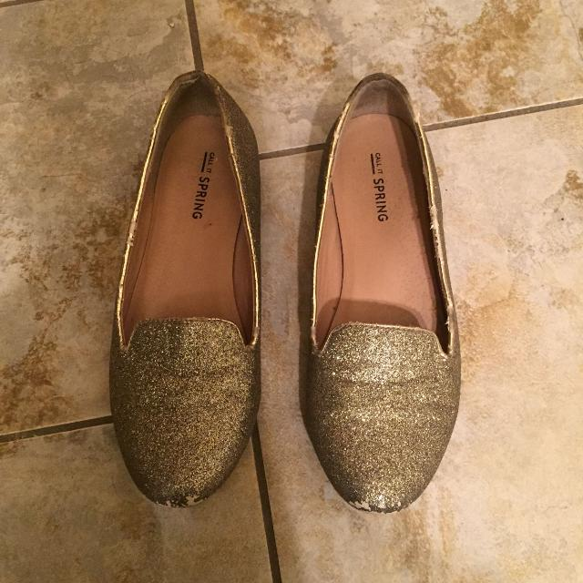 804a092ae883 Best Call It Spring Gold Glitter Shoes for sale in Dekalb County ...
