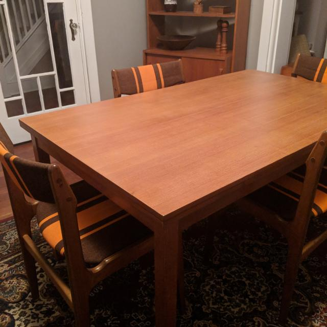 Find More Teak Dining Room Table And Chairs For Sale At Up To Off - Teak table and 4 chairs