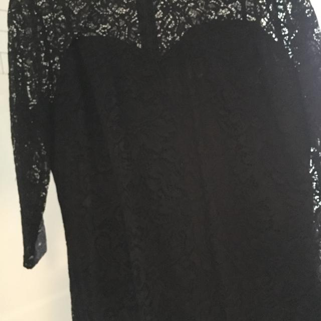 Reitmans Xl Form Fitted Black Lace Dress