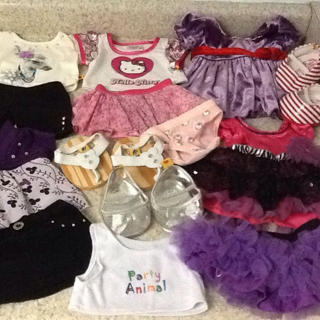 00f2e320b63 Find more Build -a-bear Clothes . 14 Pcs In All . All In Great ...
