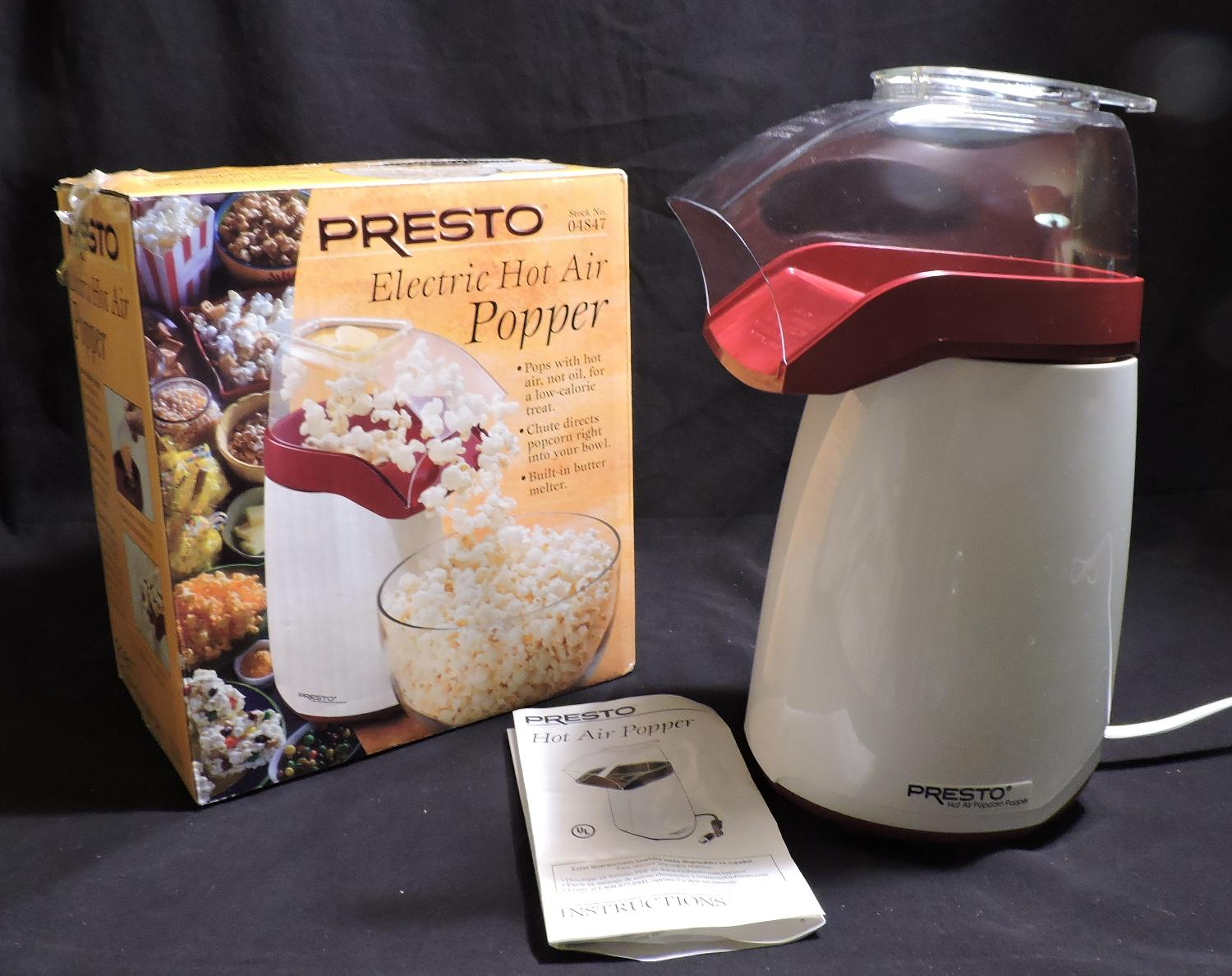 Best Presto Electric Hot Air Popcorn Popper Low Calorie Used One