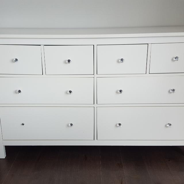 Find More Ikea White Dresser With Crystal Knobs For Sale At Up To 90