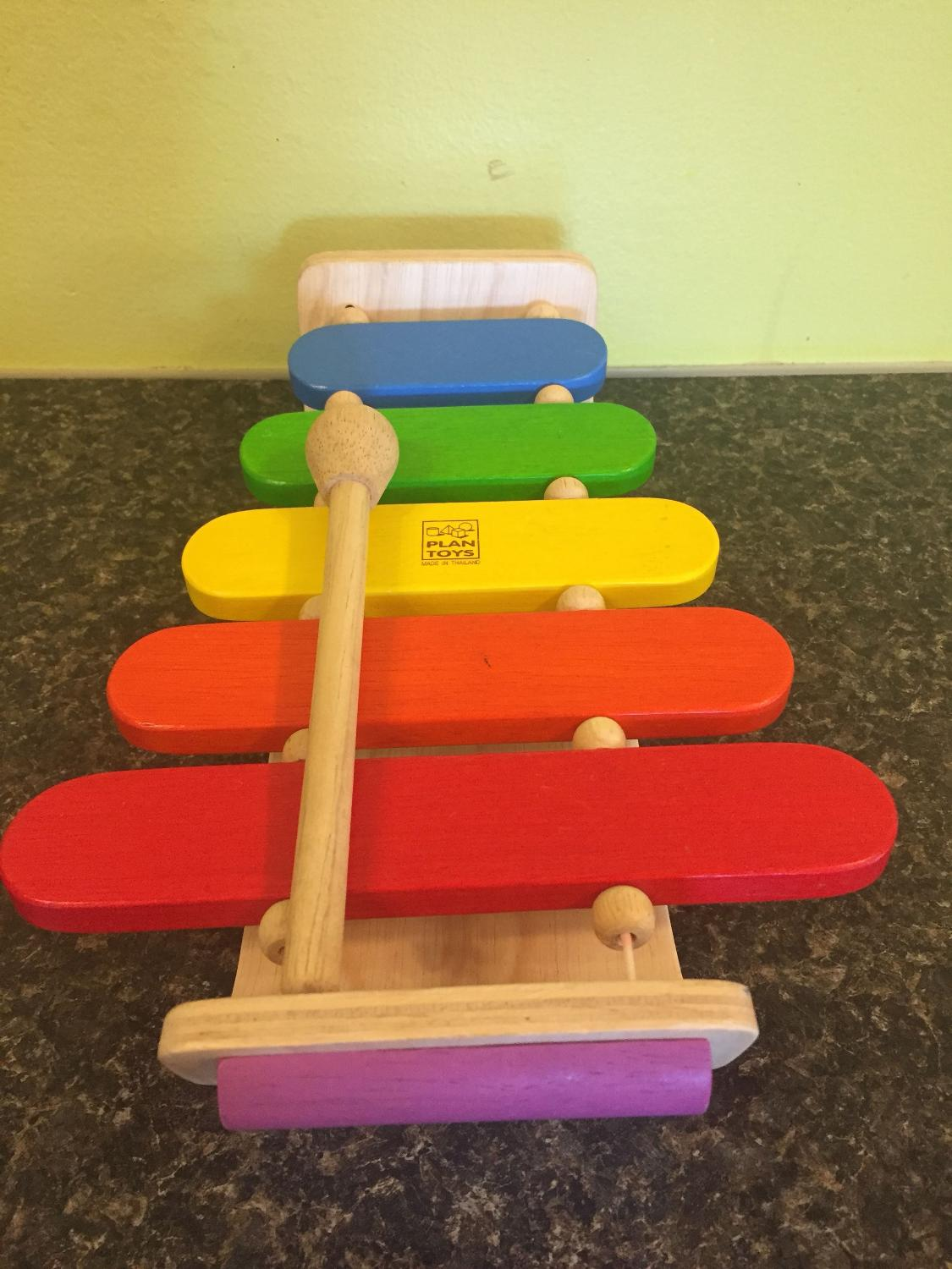 plan toy wooden xylophone euc . great eco friendly toys. pick up in vic  west. can leave out for convenient pickup.